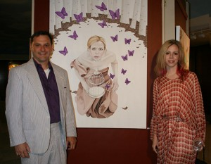 Amy Guidry with Troy Broussard of the Zigler Art Museum