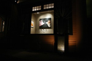 My painting featured in the window of Wally Workman Gallery
