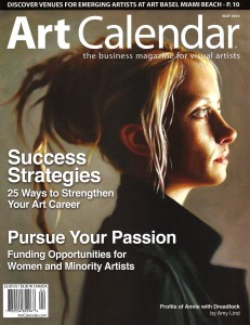 May issue of Art Calendar Magazine- my profile is featured on pg. 44