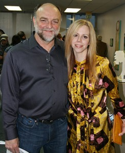 """Artist Amy Guidry with Gallery 549 Director Don LeBlanc"""