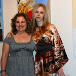 Amy Guidry with co-exhibiting artist Stephanie Patton