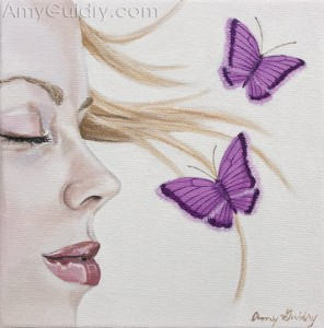 """Dreaming"" by Amy Guidry; acrylic on canvas; Private Collection; (c) Amy Guidry 2010"
