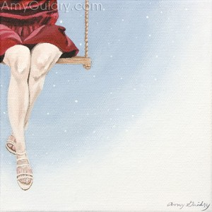 """The Red Dress"" by Amy Guidry; Private Collection; (c) Amy Guidry 2011"