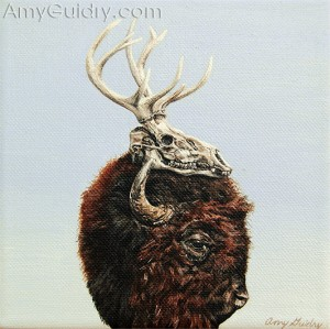 """Trophy"" by Amy Guidry, acrylic on canvas, 6"" x 6"", (c) Amy Guidry 2011"