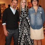 Artist Amy Guidry with curators Brian Guidry and Mary Beyt