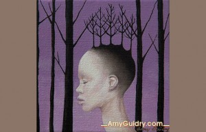 """Fusion"" by Amy Guidry; Acrylic on canvas; 4"" x 4""; SOLD; (c) Amy Guidry 2013"