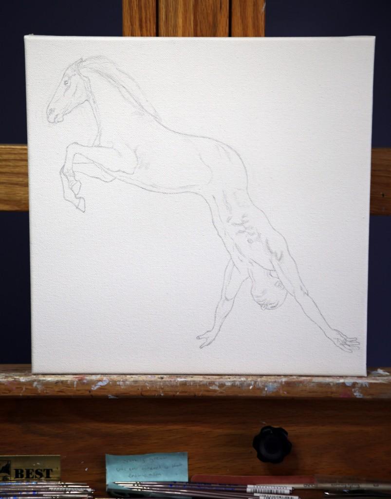 "Work in progress by Amy Guidry; 12"" x 12""; (c) Amy Guidry 2013"