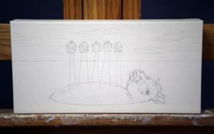 "Work in progress by Amy Guidry; 12""w x 6""h; (c) Amy Guidry 2013"
