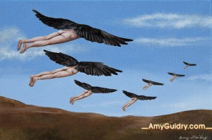 """""""Harmony"""" by Amy Guidry; Acrylic on canvas; 6""""w x 4""""h; SOLD; (c) Amy Guidry 2014"""