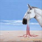 """Integrate"" by Amy Guidry; Acrylic on canvas; 4"" x 4""; $100; (c) Amy Guidry 2014"