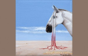 """""""Integrate"""" by Amy Guidry; Acrylic on canvas; 4"""" x 4""""; SOLD; (c) Amy Guidry 2014"""