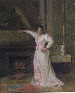 """Portrait of Mrs. E. R. Miller"" by Eleanor Norcross; Oil on canvas; 23.5"" x 29"""