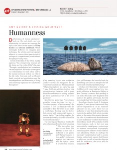 Amy Guidry and Jessica Goldfinch feature, American Art Collector Magazine, October 2014