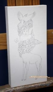 "Work in progress by Amy Guidry; 6""w x 12""h; (c) Amy Guidry 2014"