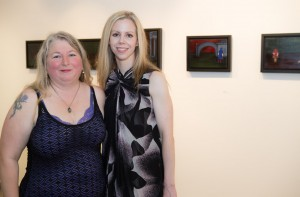 Artists Jessica Goldfinch and Amy Guidry at the opening reception at Barrister's Gallery, New Orleans, LA
