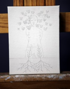 "Work in progress by Amy Guidry; 6""w x 8""h; (c) Amy Guidry 2015"