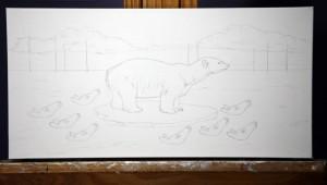 "Work in progress by Amy Guidry; 20""w x 10""h; (c) Amy Guidry 2015"